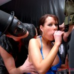 Nasty babe enjoys perverted sex session