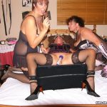 Three horny lesbians playing