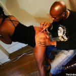 Ebony slut fucks black cock